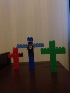 Jesus korsfästes